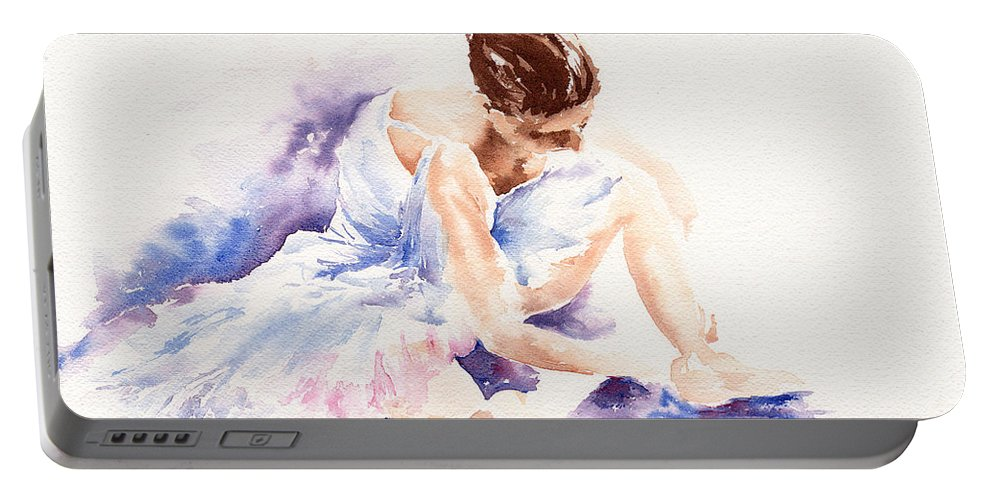 Ballerina Portable Battery Charger featuring the painting Ballerina by Stephie Butler