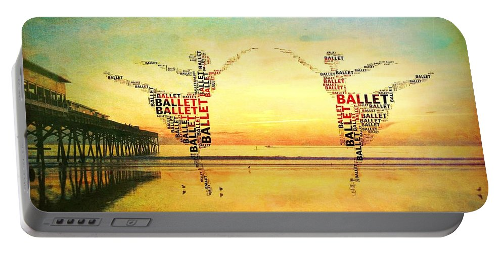 Alicegipsonphotographs Portable Battery Charger featuring the photograph Ballet At The Pier by Alice Gipson
