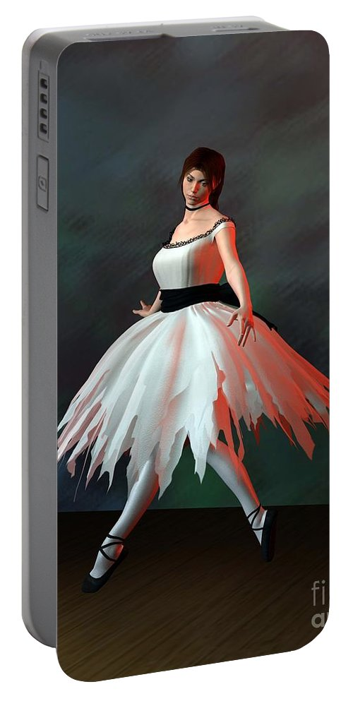 Ballet Portable Battery Charger featuring the digital art Ballet Dancer by John Junek