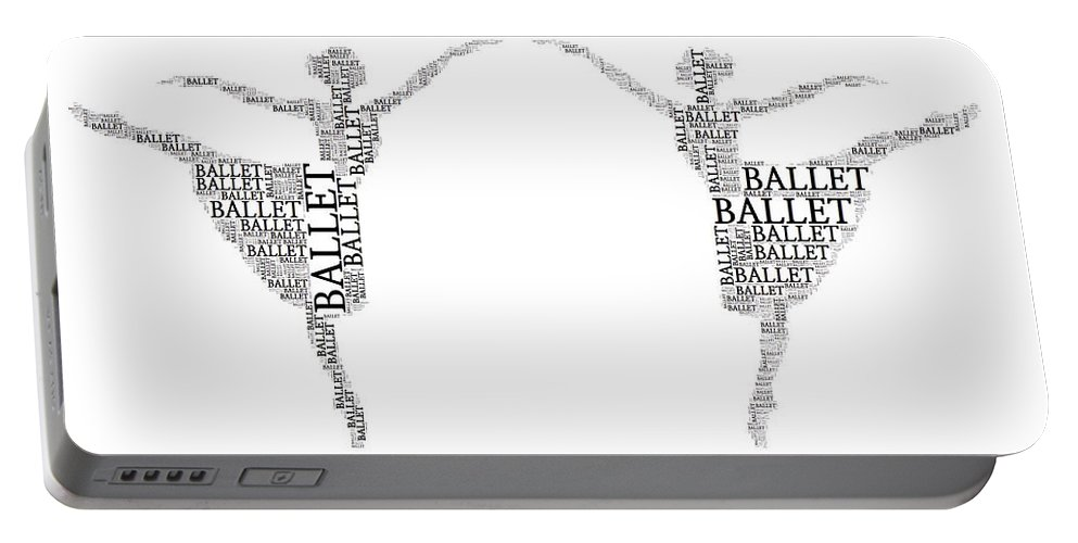 Alicegipsonphotographs Portable Battery Charger featuring the digital art Ballet En Deux by Alice Gipson