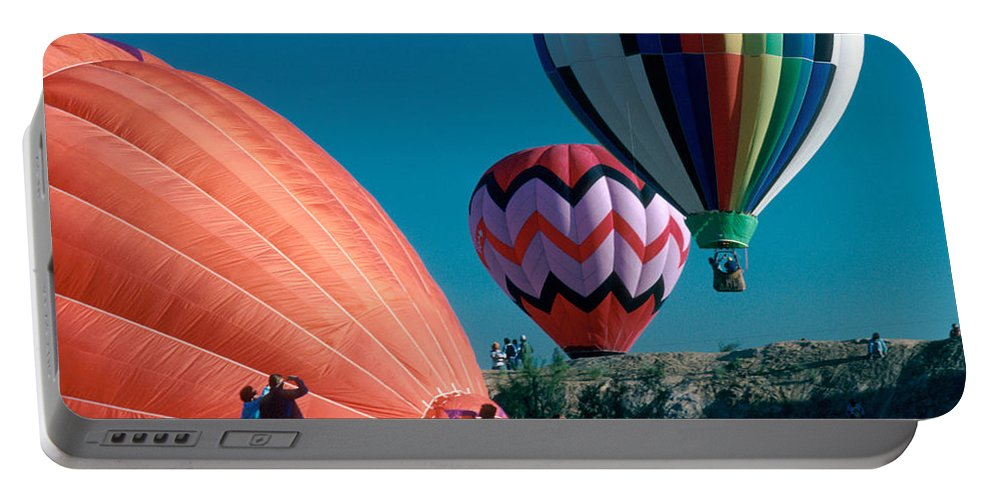 Hot Air Balloon Portable Battery Charger featuring the photograph Ballon Launch by Jerry McElroy