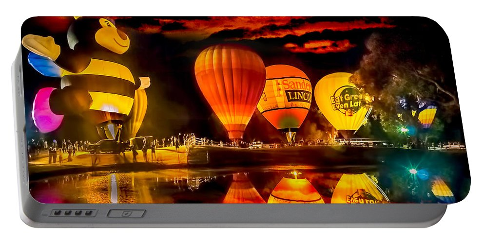Balloons Portable Battery Charger featuring the photograph Balloon Festival by Larry White