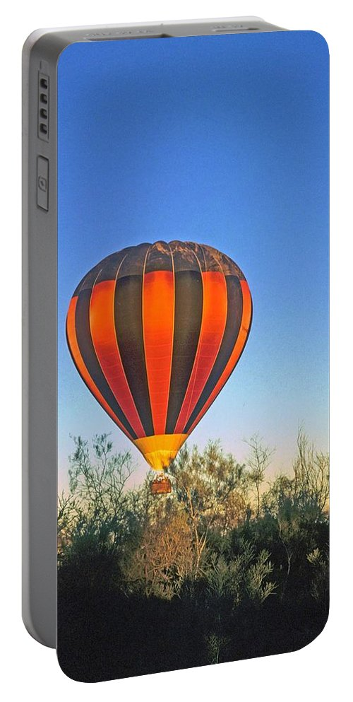 Hot Air Balloon Portable Battery Charger featuring the photograph Balloon Launch by Gary Wonning