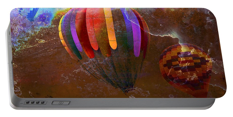 Balloons Portable Battery Charger featuring the photograph Balloon Race by Phyllis Denton