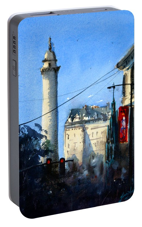 Baltimore Portable Battery Charger featuring the painting Baltimore, Near Peabody by James Nyika