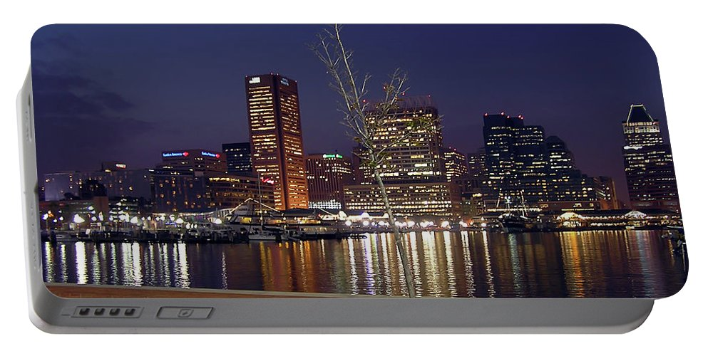 2d Portable Battery Charger featuring the photograph Baltimore Reflections by Brian Wallace