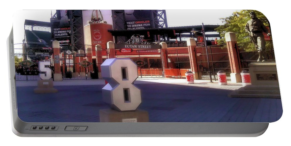 Baseball Portable Battery Charger featuring the photograph Baltimore's Yard by Robert McCubbin