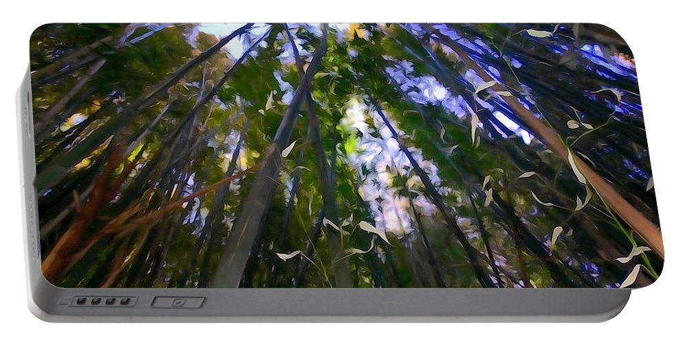 Digital Art Portable Battery Charger featuring the photograph Bamboo Dreams #4 by Ed Weidman