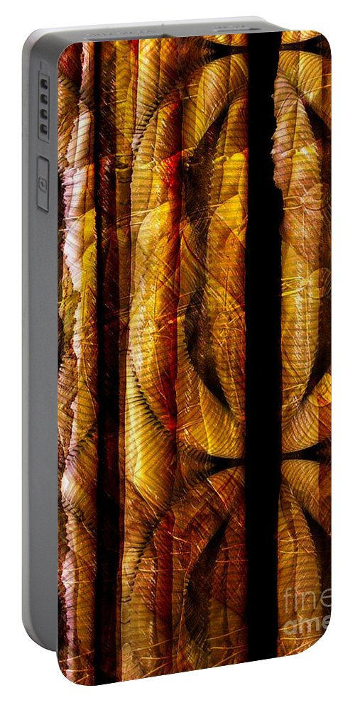 Bamboo Portable Battery Charger featuring the digital art Bamboo by Ron Bissett