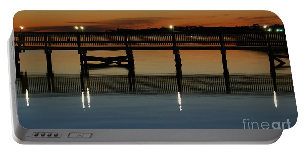 Pier Portable Battery Charger featuring the photograph Calm Waters by Jennifer Diaz