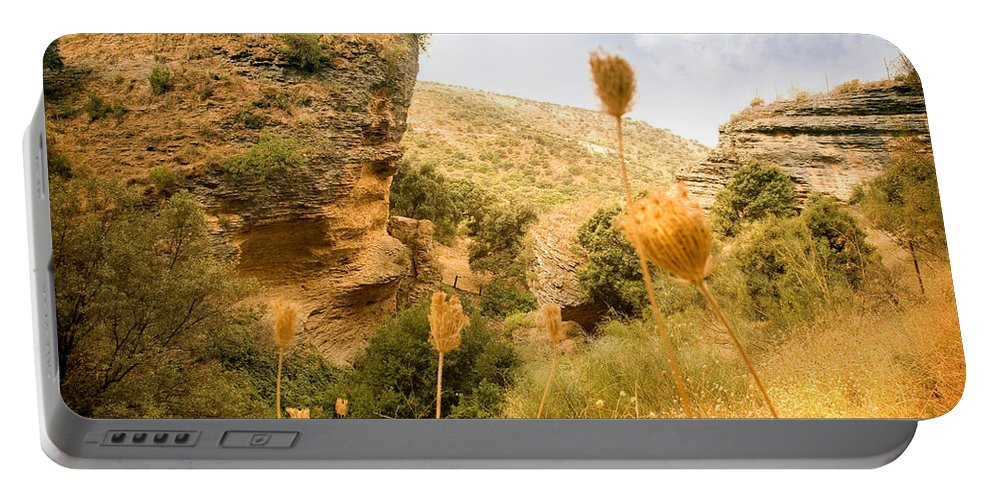 Spain Portable Battery Charger featuring the photograph Bandit Country Near The Edge Of The Fan In Ronda Area Andalucia Spain by Mal Bray