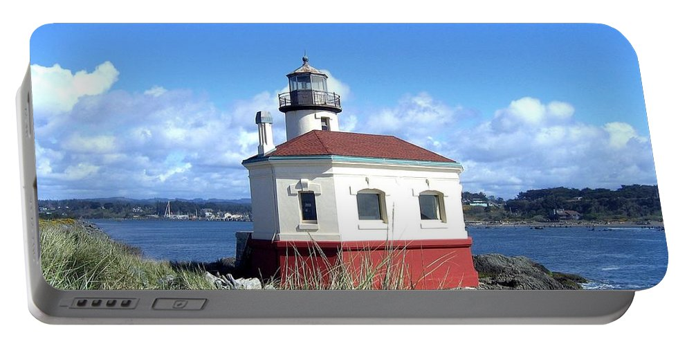 Coquille Lighthouse Portable Battery Charger featuring the photograph Bandon 1 by Will Borden