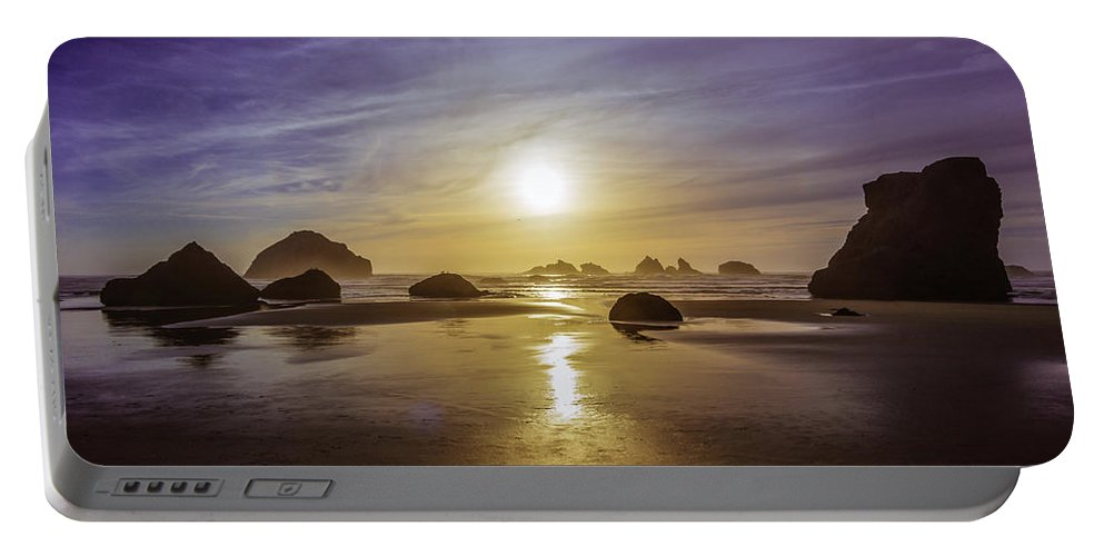 Bandon Portable Battery Charger featuring the photograph Bandon Glow by Steven Clark
