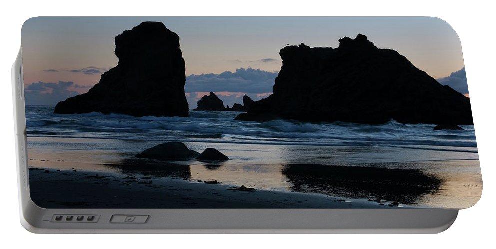 Oregon Portable Battery Charger featuring the photograph Bandon Oregon Sea Stacks by Renee Hong