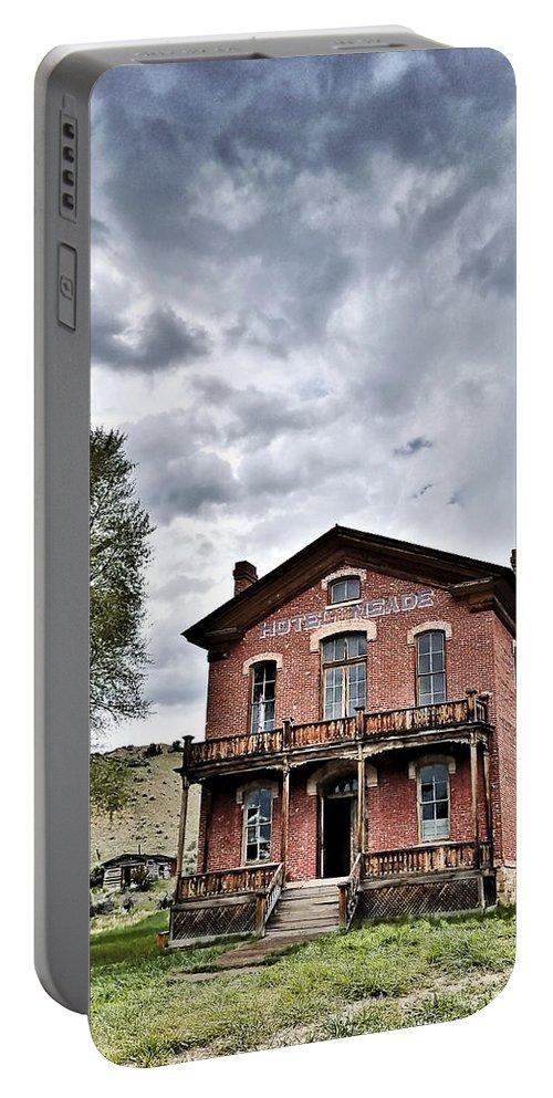 Bannack Montana Portable Battery Charger featuring the digital art Bannack Mt. 7 by Susan Kinney