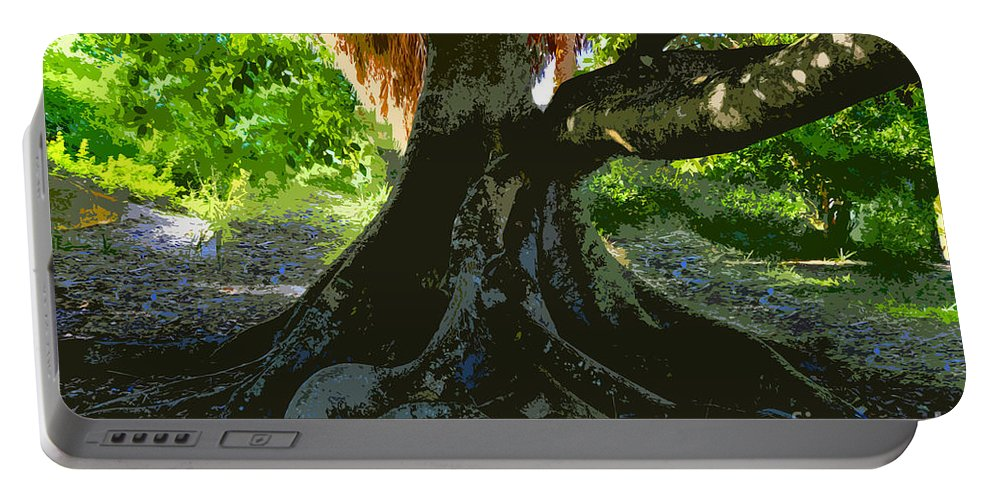 Banyan Tree Portable Battery Charger featuring the painting Banyan by David Lee Thompson