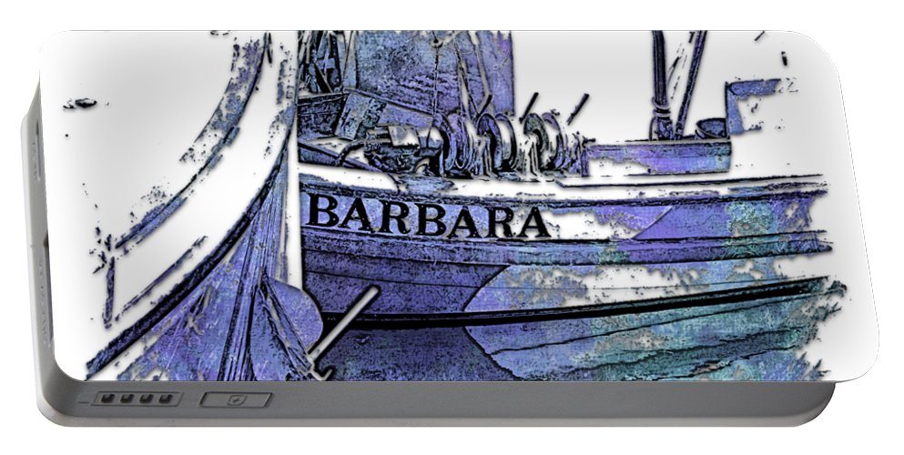 Berry Portable Battery Charger featuring the photograph Barbara Berry Blues 3 Dimensional by Di Designs