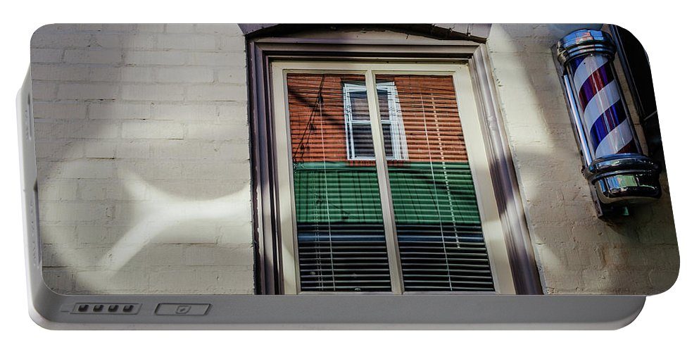 Architecture Portable Battery Charger featuring the photograph Barber Pole by Jim Love