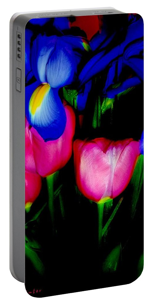 Tulips Portable Battery Charger featuring the photograph Bare Essentials by RC DeWinter