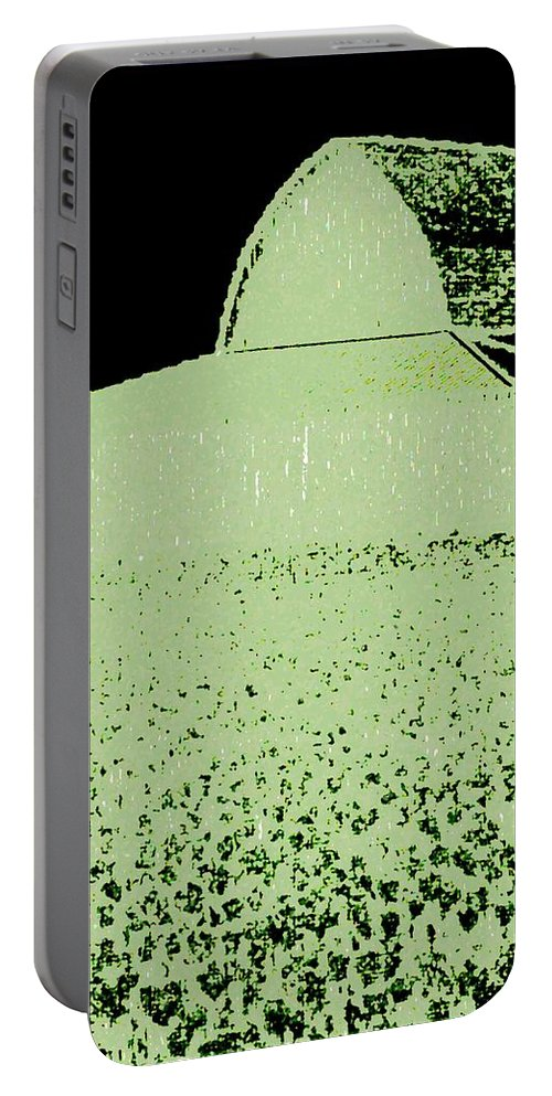Abstract Portable Battery Charger featuring the digital art Barn Abstract by Will Borden
