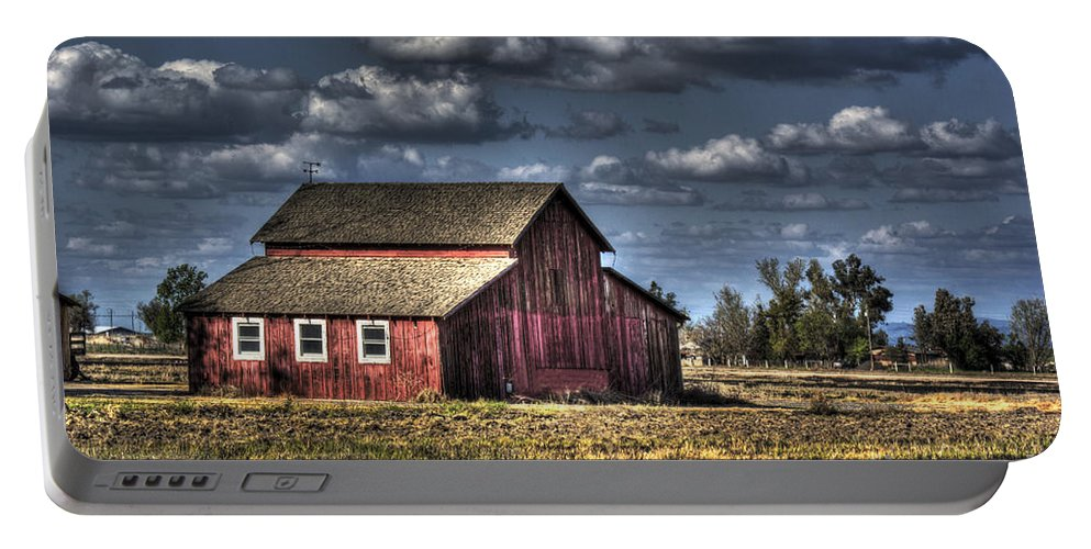 Barn Portable Battery Charger featuring the photograph Barn After Storm by Jim And Emily Bush
