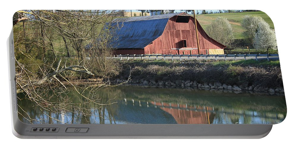 Landscape Portable Battery Charger featuring the photograph Barn And Reflections by Todd Blanchard