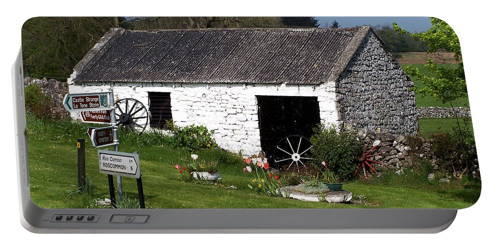 Ireland Portable Battery Charger featuring the photograph Barn At Fuerty Church Roscommon Ireland by Teresa Mucha