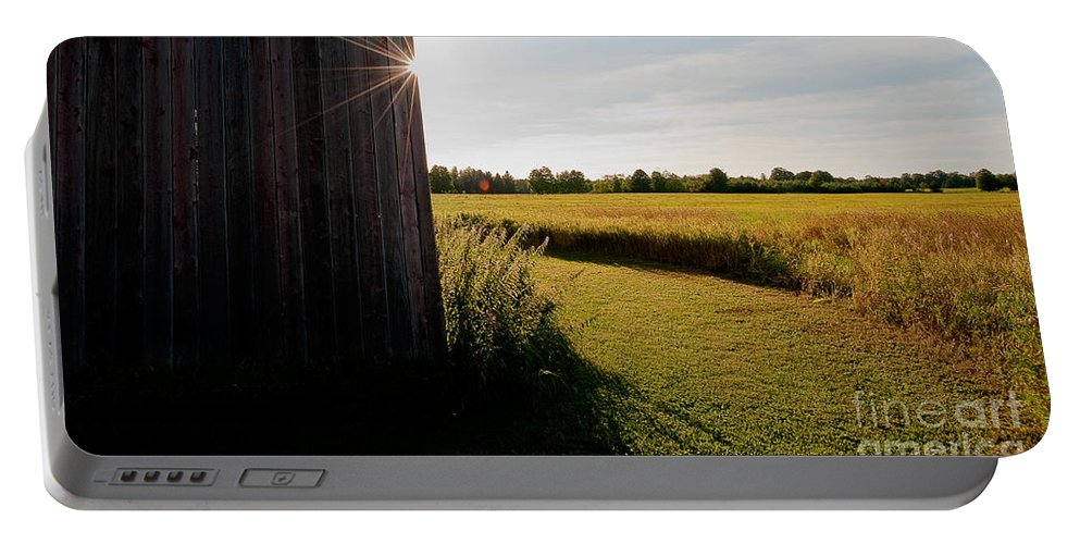 Barn Portable Battery Charger featuring the photograph Barn Highlight by Steven Dunn