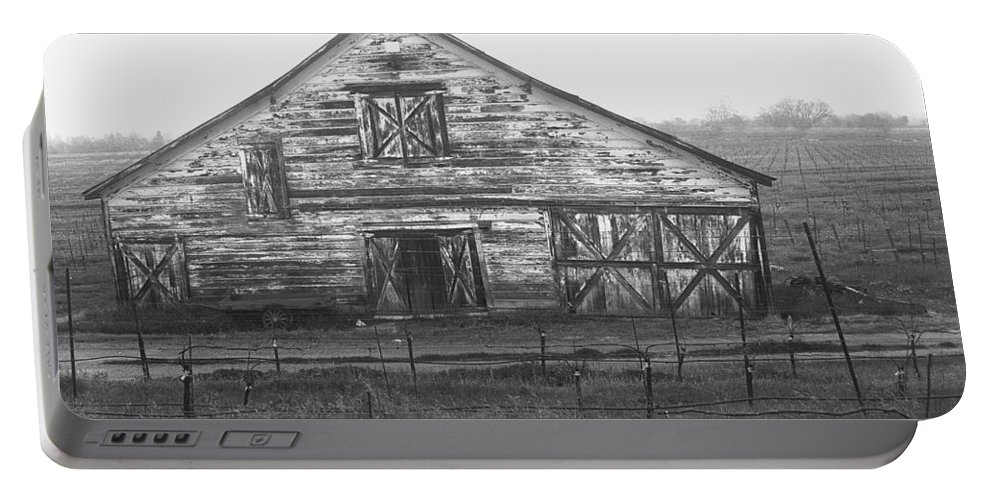 Barn Portable Battery Charger featuring the photograph Barn Of X by Tom Reynen