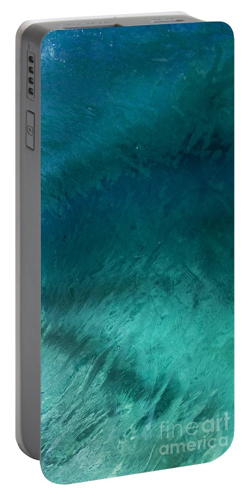Wave Portable Battery Charger featuring the photograph Barrel Swirl - Triptych Part 3 Of 3 by Sean Davey