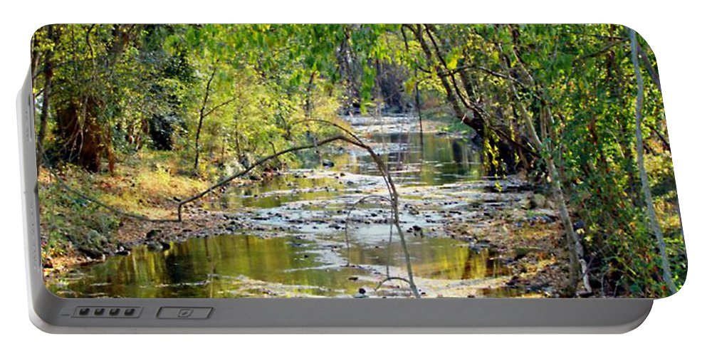 Creek Portable Battery Charger featuring the photograph Barren Fork Creek by Terry Anderson