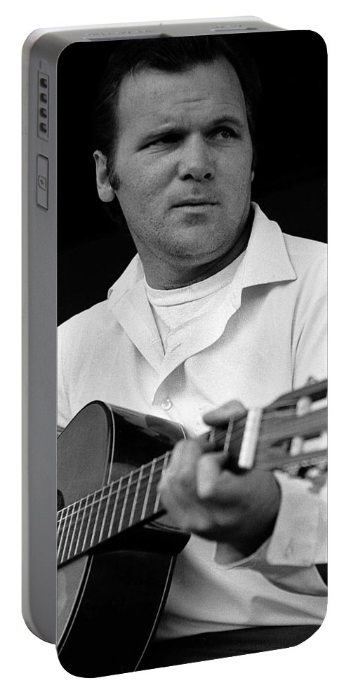 Barry Sadler With Guitar 3 Tucson Arizona 1971 Portable Battery Charger featuring the photograph Barry Sadler With Guitar 3 Tucson Arizona 1971 by David Lee Guss