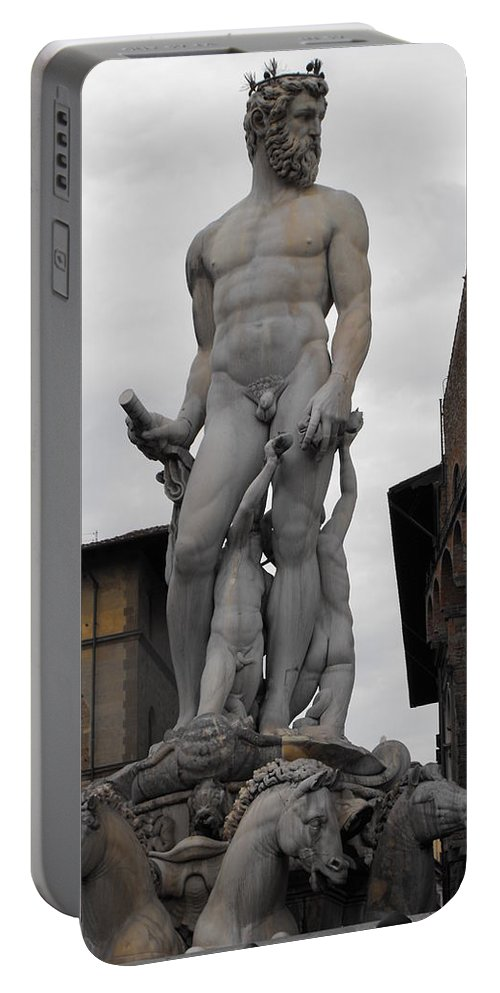 Bartolomeo's Neptune Fountain Portable Battery Charger featuring the photograph Bartolomeo's Neptune Fountain 2 by Ginger Repke