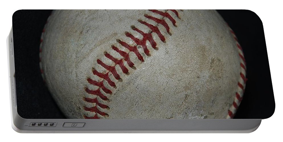Pop Art Portable Battery Charger featuring the photograph Baseball by Rob Hans