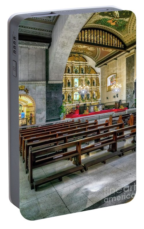 Catholic Portable Battery Charger featuring the photograph Basilica Minore Del Santo Nino by Adrian Evans