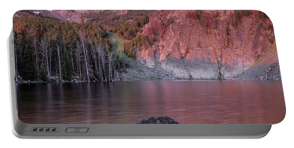 Altitude Portable Battery Charger featuring the photograph Basin Lake Sunrise 2 by Leland D Howard
