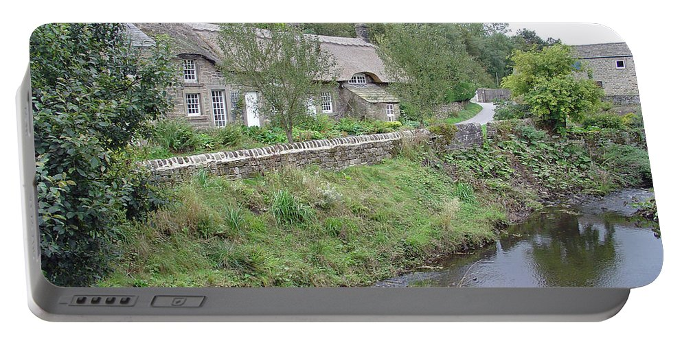 Europe Portable Battery Charger featuring the photograph Baslow Cottages by Rod Johnson