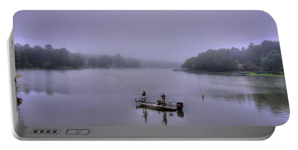 Reid Callaway Lake Oconee Portable Battery Charger featuring the photograph Bass Masters Lake Oconee Fishing Art by Reid Callaway