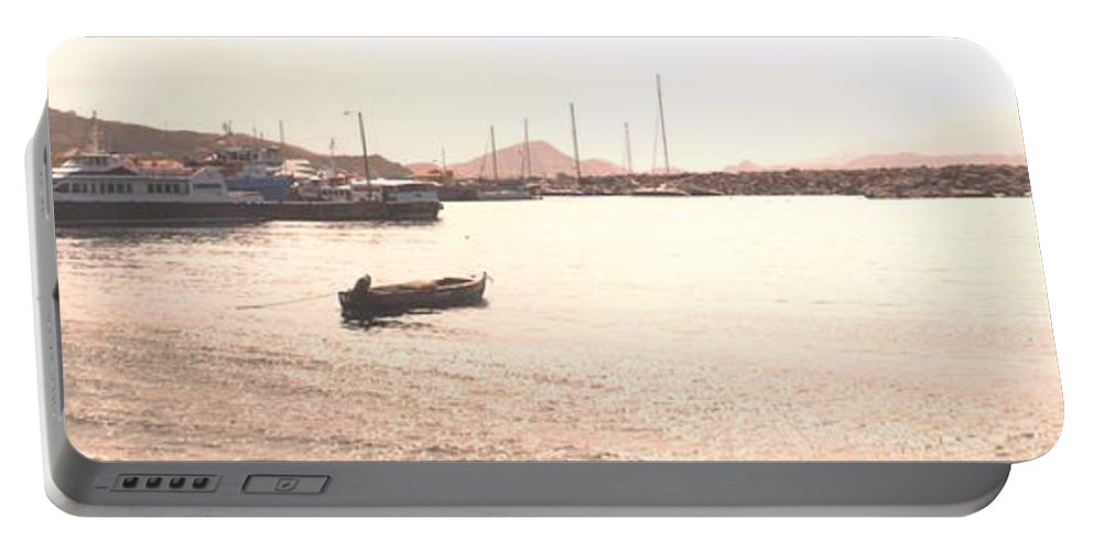 St Kitts Portable Battery Charger featuring the photograph Basseterre Harbour by Ian MacDonald