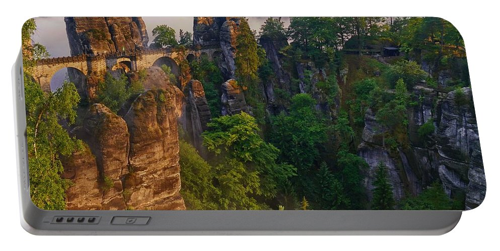 Bastei Portable Battery Charger featuring the photograph Bastei by Dawn Van Doorn