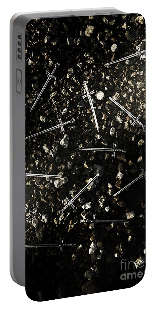 Blade Portable Battery Charger featuring the photograph Battle Blades by Jorgo Photography - Wall Art Gallery