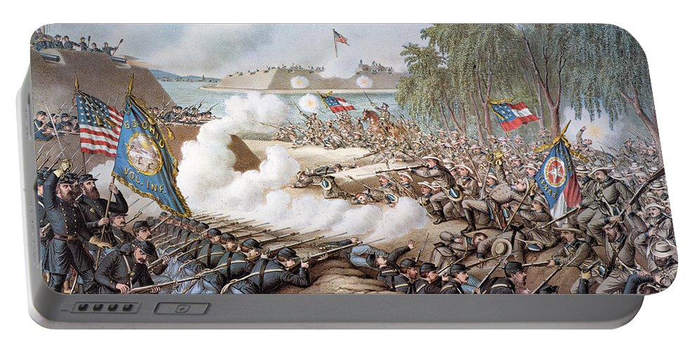 1862 Portable Battery Charger featuring the photograph Battle Of Corinth, 1862 by Granger