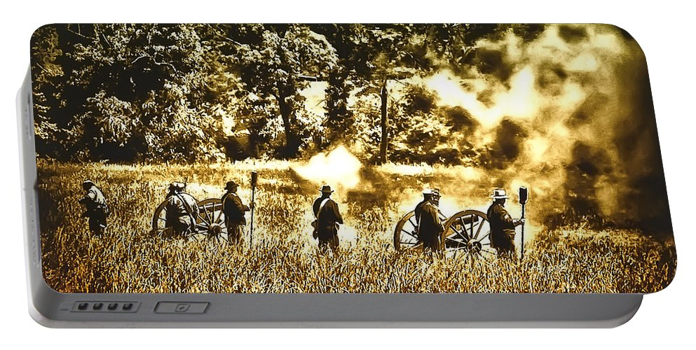 Gettysburg Portable Battery Charger featuring the photograph Battle Of Gettysburg by Bill Cannon