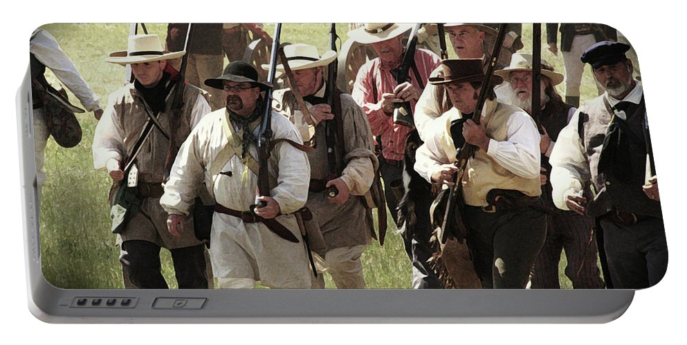 Re-enactment Of San Jacinto Portable Battery Charger featuring the photograph Battle Of San Jacinto by Kim Henderson