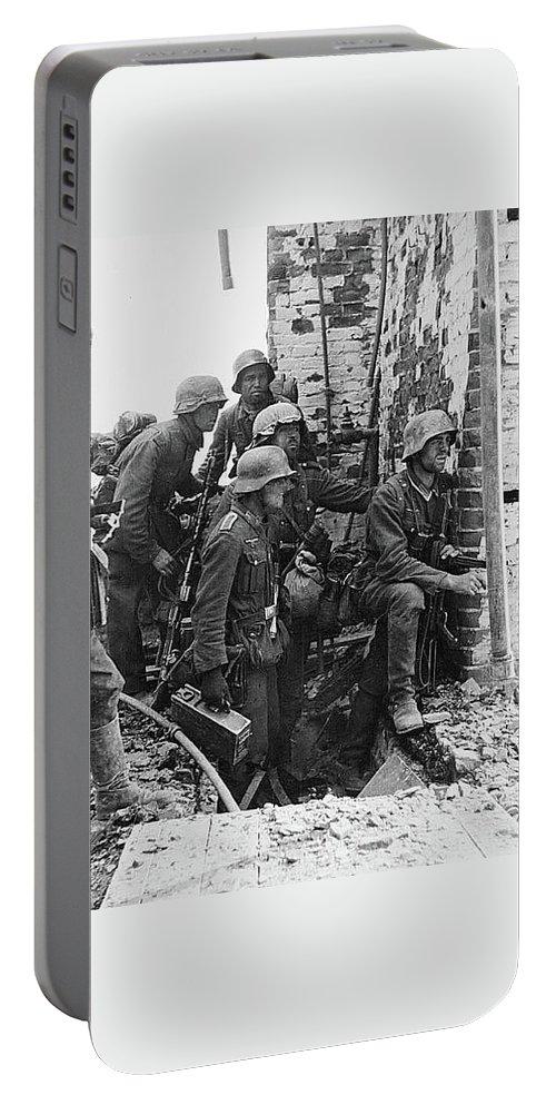 Battle Of Stalingrad Nazi Infantry Street Fighting 1942 Portable Battery Charger featuring the photograph Battle Of Stalingrad Nazi Infantry Street Fighting 1942 by David Lee Guss
