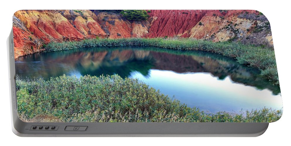 Bauxite Portable Battery Charger featuring the photograph Bauxite Lake by Fabrizio Troiani