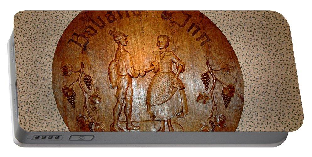 Usa Portable Battery Charger featuring the photograph Bavarian Inn Willkommen by LeeAnn McLaneGoetz McLaneGoetzStudioLLCcom