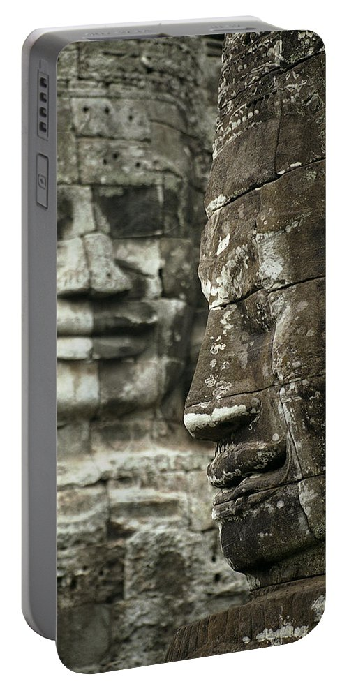 Bayon Portable Battery Charger featuring the photograph Bayonii by Patrick Klauss