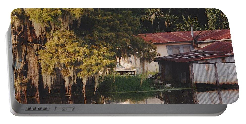Bayou Portable Battery Charger featuring the photograph Bayou Shack by Michelle Powell