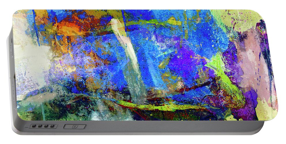 Abstraction Portable Battery Charger featuring the painting Bayou Teche by Dominic Piperata